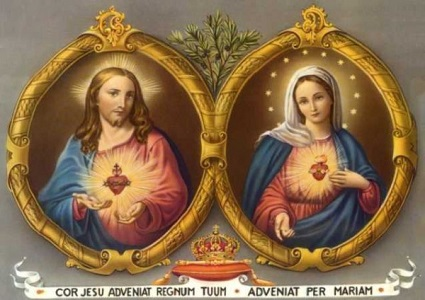 The Sacred Heart of Jesus and the Immaculate Heart of Mary are united in the History of Salvation.