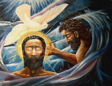 When John baptized Jesus Christ in the Jordan River, the Holy Spirit, in the form of a dove, descended upon the Messiah.