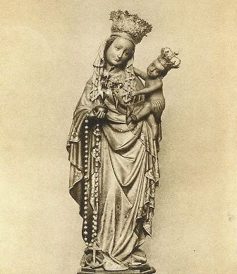 This is the statue of Our Lady, Star of the Sea in the Basilica of Our Lady (Maastricht), the most important Marian shrine of the Netherlands.