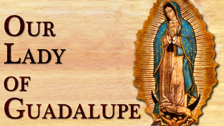 This image of the Blessed Virgin Mary, under the title of Our Lady of Guadalupe, is what she looked like when she appeared to Saint Juan Diego in Mexico in 1531.