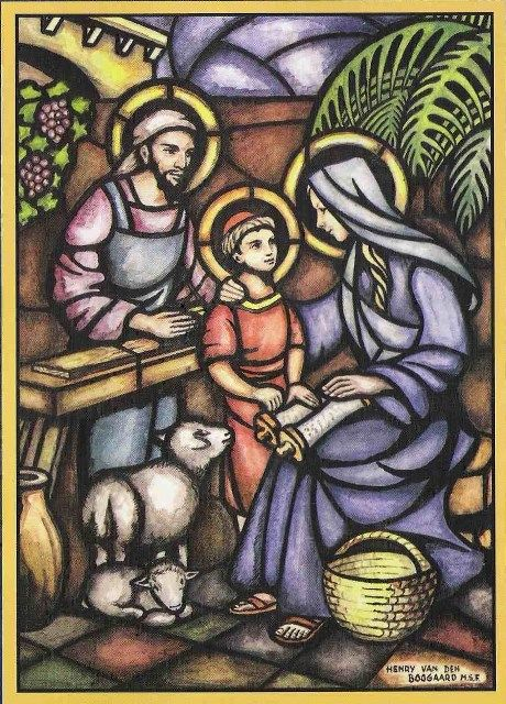 The Holy Family by the late Reverend Henry Van Den Boogaard, M.S.F., a priest of the Missionaries of the Holy Family.