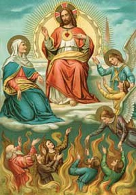 Jesus Christ, in His merciful love, purifies Holy Souls in Purgatory and welcomes them into Heaven.