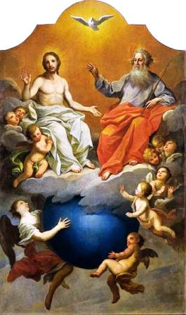 The Most Holy Trinity is the three Divine Persons of God the Father, God the Son, and God the Holy Spirit as one Sovereign God.