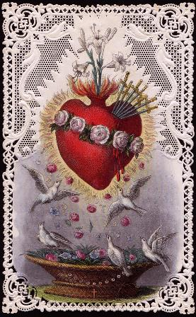 Inspired by the pierced heart of the Blessed Virgin Mary, artists have tried to capture an image of the account that is part of the Presentation in the Temple.