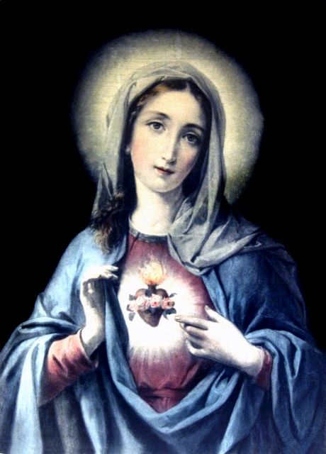 This is a vintage illustration of the Immaculate Heart of Mary.
