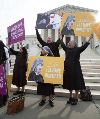 Little Sisters of the Poor protest the communistic tyranny of the HHS Contraceptive Mandate.