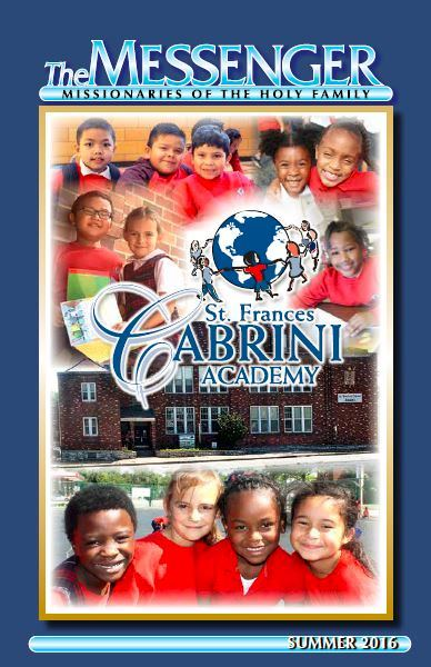 The Summer 2016 issue of The Messenger Magazine features children from Saint Frances Cabrini Academy, an ethnically diverse elementary school in Saint Louis, Missouri.