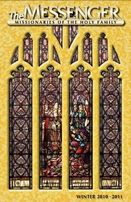 The front cover of The Messenger, Winter 2010-11 issue, features the restored Martyrdom of Saint Wenceslaus stained glass window in Saint Wenceslaus Church in Saint Louis, Missouri.