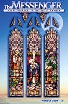 The front cover of The Messenger, Winter 2009-10 issue, features the restored Annunciation stained glass window in Saint Wenceslaus Church in Saint Louis, Missouri.