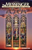 The front cover of The Messenger, Summer 2008 issue, features the restored Assumption of Mary stained glass window in Saint Wenceslaus Church in Saint Louis, Missouri.