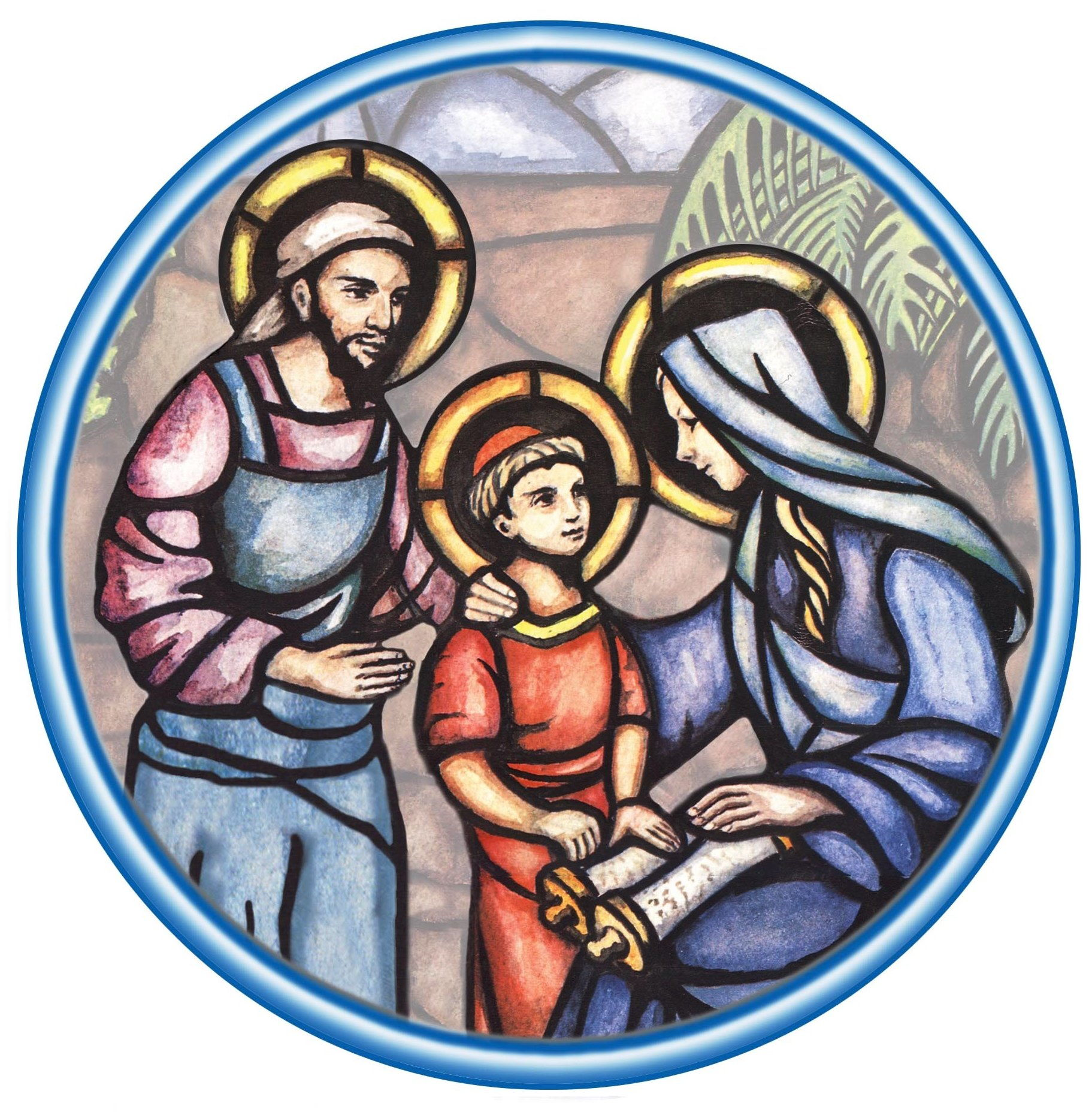 This is the logo for the North American Province of the Missionaries of the Holy Family.