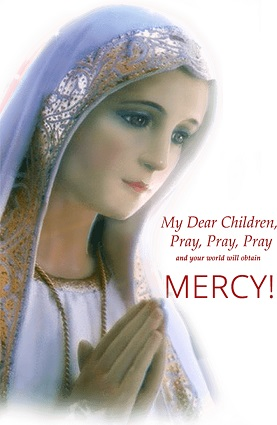 Our Lady of Fatima encourages us, her spiritual children, to pray to Jesus Christ for the salvation of souls.