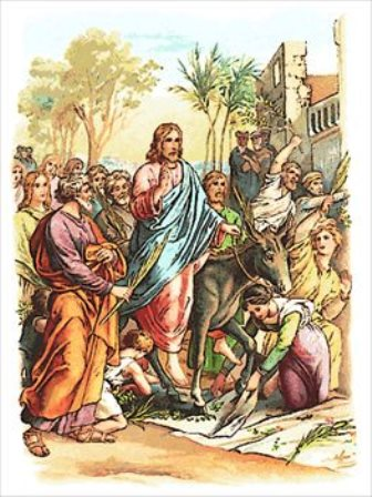 The triumphant entry of Jesus Christ into Jerusalem is foretold in the Old Testament in the Book of Zechariah 9:9.