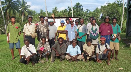 Men of Papua New Guinea volunteer to serve on a parish council for a local church.