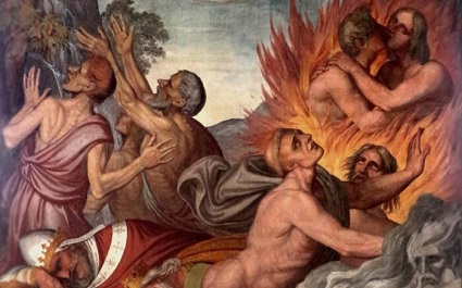 Holy Souls in Purgatory undergo purification, and the members of The Church Militant can aid them with prayer and good works.