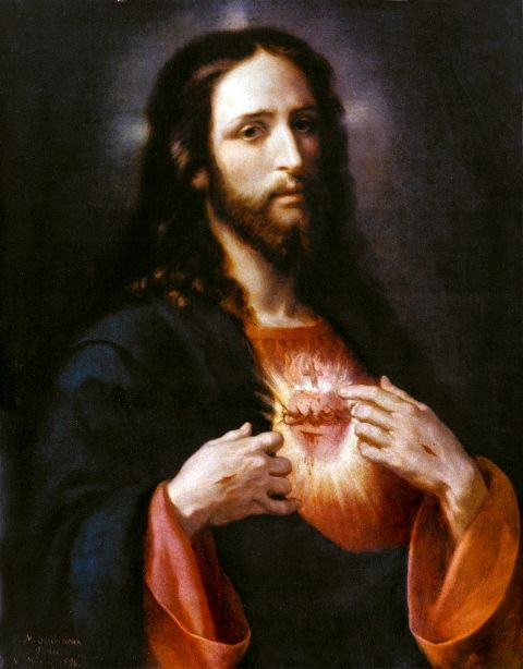 The Sacred Heart of Jesus is a Eucharistic Heart because His Body, Blood, Soul, and Divinity becomes the food of eternal salvation.