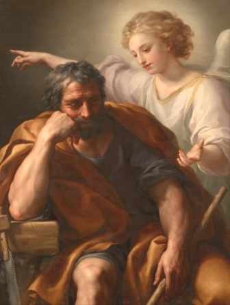 In his dreams, Saint Joseph was informed by an Angel of God on how to protect the Child Jesus and the Blessed Virgin Mary.