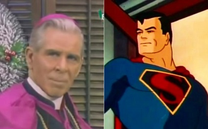 Venerable Archbishop Fulton Sheen explains the eternal difference between Jesus Christ and Superman.