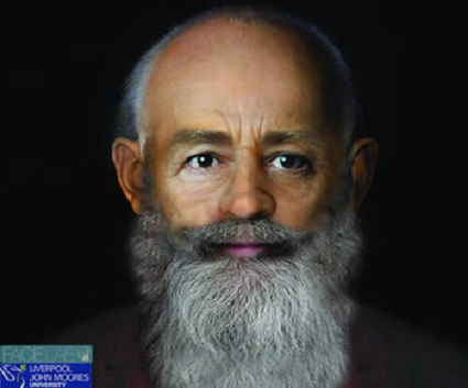 This is a fascinating, modern, forensic reconstruction of the face of Saint Nicholas.