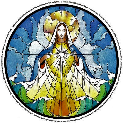This beautiful stained glass window is from Our Lady, Star of the Sea Church in Saint Marys, Georgia.