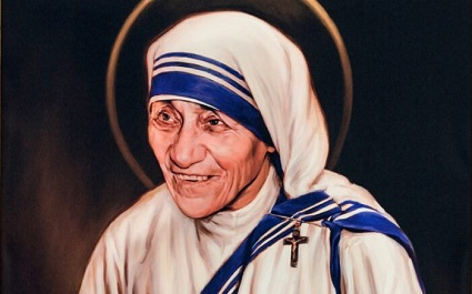 Mother Teresa of Calcutta is a Roman Catholic saint for her life of service to the poor.