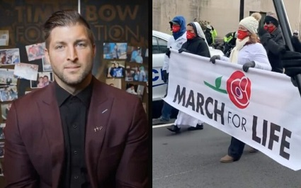 Tim Tebow told his story at the March for Life about his mother choosing life and rejecting abortion.