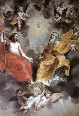 The Most Holy Trinity is one God in three divine persons of God the Father, God the Son, and God the Holy Spirit.