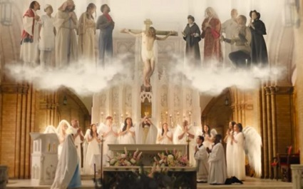 This image is from the short film about the Holy Sacrifice of the Mass, The Veil Removed.