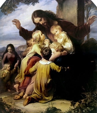 This famous painting by Vogelstein shows the love Jesus Christ has for little children.