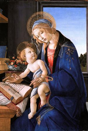 Madonna of the Book is a famous painting by Italian artist Sandro Botticelli, dating back to 1480 A.D.