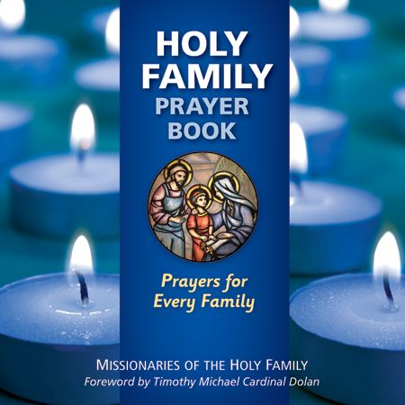 The is the front cover of the English version of the Holy Family Prayer Book: Prayers for Every Family.