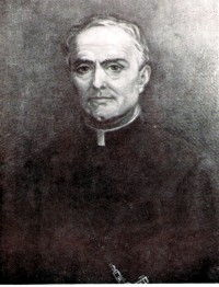 This black and white portrait is of Servant of God Father John Berthier, Founder of the Missionaries of the Holy Family.