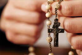 Praying the Mysteries of the Rosary is a popular  way to contemplate the life of the Holy Family in Sacred Scripture.